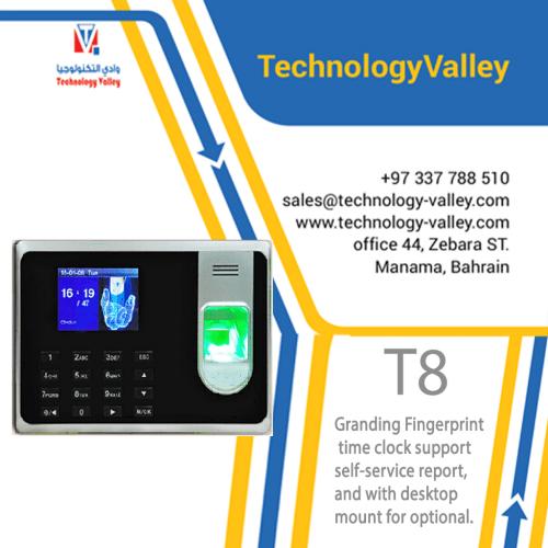 T8 Granding Fingerprint time clock at Bahrain